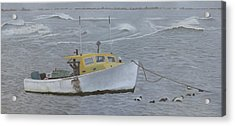 Lobster Boat In Kettle Cove Acrylic Print
