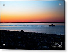 Lobster Boat In Maine Acrylic Print by Diane Diederich