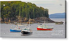 Lobster Boats In Bar Harbor Acrylic Print