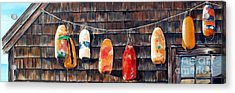 Lobster Buoys, Nova Scotia Acrylic Print