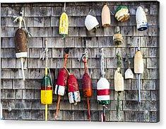 Lobster Buoys On Wall, York, Maine Acrylic Print