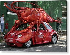 Lobster Car Acrylic Print by Carl Purcell
