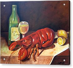 Acrylic Print featuring the painting Lobster Fest  by Susan Dehlinger
