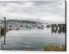 Acrylic Print featuring the photograph Lobster Fleet by John M Bailey