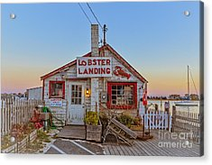 Lobster Landing Sunset Acrylic Print by Edward Fielding