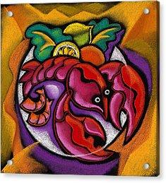Lobster Acrylic Print by Leon Zernitsky