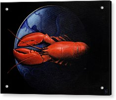 Lobster On Tiffany Plate Acrylic Print