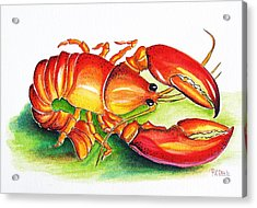 Lobster Acrylic Print by Patricia Piffath