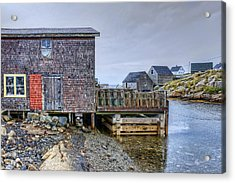 Lobster Shack - Peggy's Cove Acrylic Print by Nikolyn McDonald