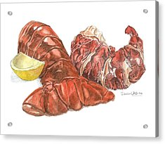 Lobster Tail And Meat Acrylic Print