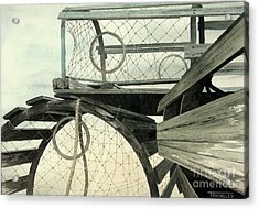 Lobster Traps Acrylic Print by Frank Townsley