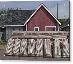 Lobster Traps Prince Edward Island Acrylic Print by Edward Fielding