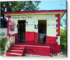 Acrylic Print featuring the photograph Local Rum Shop, Barbados by Kurt Van Wagner