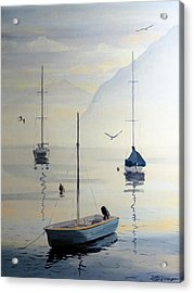Locarno Boats In February Acrylic Print