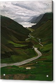 Acrylic Print featuring the painting Loch Assynt by Jesslyn Fraser