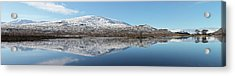 Acrylic Print featuring the photograph Loch Droma Panorama by Grant Glendinning