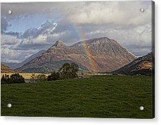 Loch Eilde Mor Rainbow Acrylic Print by Jim Dohms