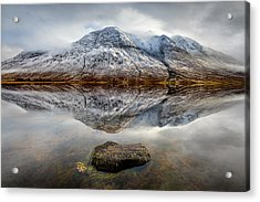 Loch Etive Reflection Acrylic Print by Dave Bowman