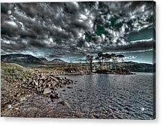Acrylic Print featuring the photograph Loch In The Scottish Highland by Gabor Pozsgai