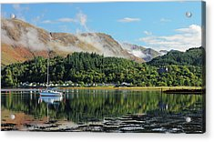 Acrylic Print featuring the photograph Loch Leven Glencoe by Grant Glendinning