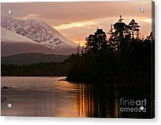 Loch Lochy Acrylic Print by David Bleeker