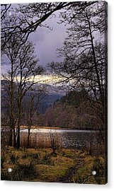 Acrylic Print featuring the photograph Loch Venachar by Jeremy Lavender Photography
