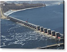 Lock And Dam 4 Acrylic Print by Ron Read