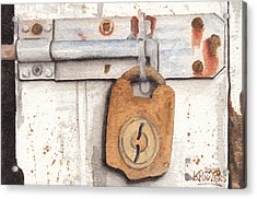 Lock And Latch Acrylic Print by Ken Powers