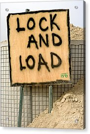 Lock And Load Acrylic Print by Unknown
