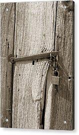 Locked Door Acrylic Print by Pat Carosone