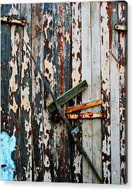 Locked Door Acrylic Print by Perry Webster