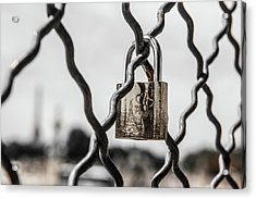 Locked In Paris Acrylic Print