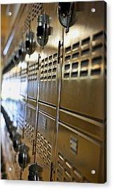 Lockers Acrylic Print