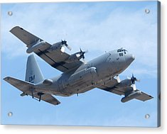 Lockheed Ec-130h Compass Call Hercules 73-1584 Davis-monthan Afb Arizona March 8 2011 Acrylic Print by Brian Lockett