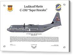 Lockheed Martin C-130j-30 Super Hercules Acrylic Print by Arthur Eggers