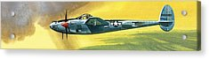 Lockheed P-38j Lightning Acrylic Print by Wilf Hardy