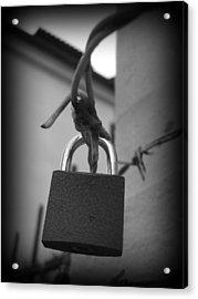 Locking Love Acrylic Print by Haley Evans
