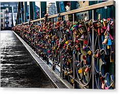 Locks Of Lock Bridge Acrylic Print