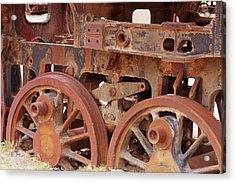 Locomotive In The Desert Acrylic Print by Aidan Moran