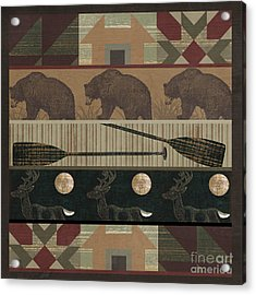 Lodge Cabin Quilt Acrylic Print