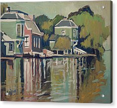 Lofts Along The River Zaan In Zaandam Acrylic Print