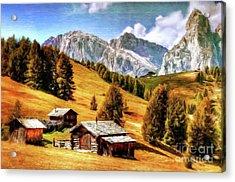 Log Cabin Home By Sarah Kirk Acrylic Print