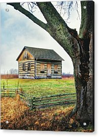 Acrylic Print featuring the photograph Log Cabin - Paradise Springs - Kettle Moraine State Forest by Jennifer Rondinelli Reilly - Fine Art Photography