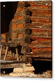 Log Cabin Acrylic Print by Robert Frederick
