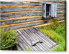 Log Cabin Storm Cellar Door Acrylic Print by Paul W Faust -  Impressions of Light