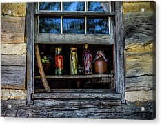 Log Cabin Window Acrylic Print by Paul Freidlund