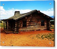 Log Cabin Yr 1800 Acrylic Print by Joseph Frank Baraba