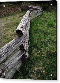 Acrylic Print featuring the photograph Log Fence by Ron Roberts