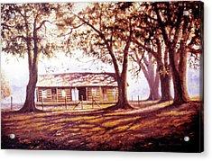 Log House On 421 Acrylic Print