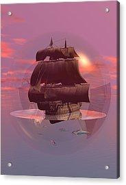Log Wind Sse 5mph Seas Calm Acrylic Print by Claude McCoy